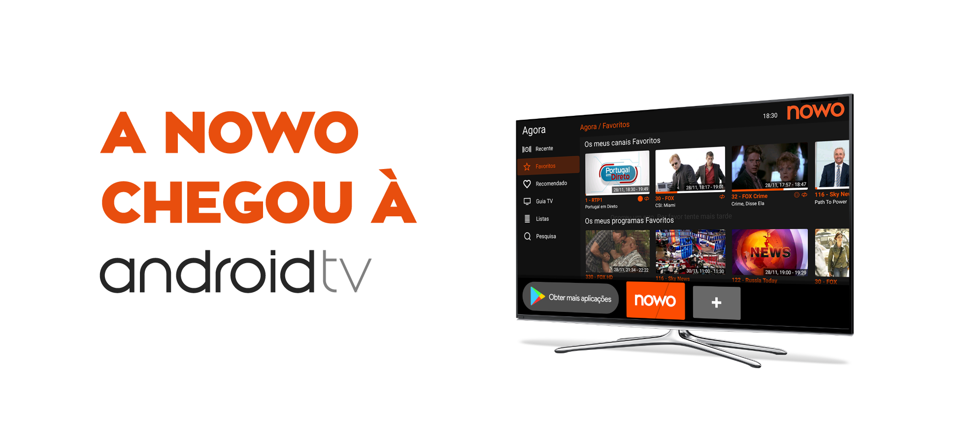 A NOWO chegou à Android TV